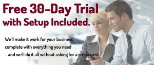 Free 30 Day Trial with setup of your salon software, nail software or MediSpa software